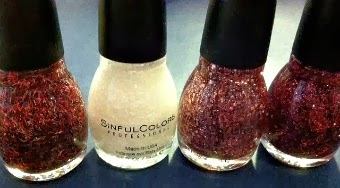 SinfulColors Holiday Tinsel Polish and Sheer Lustre Glitter Topcoat