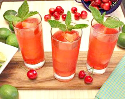 Cherry Lime and Gin Cocktail Recipe