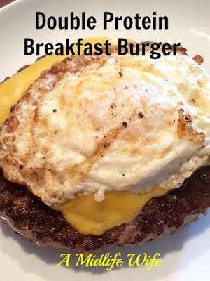 Double Protein Breakfast Burger Recipe