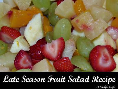 Low Carb Late Season Fruit Salad Recipe