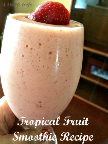Tropical Fruit N Yogurt Smoothie Recipe