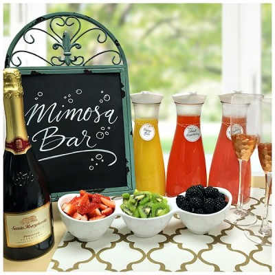 Easy DIY Mimosa Bar For Holiday Brunch