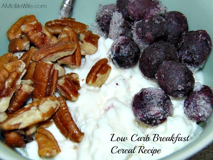 Quick and Easy Low Carb Breakfast Cereal Recipe | amidlifewife.com