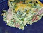 Crustless Spinach and Ham Quiche Recipe: Perfect for Low Carb Diets | amidlifewife.com