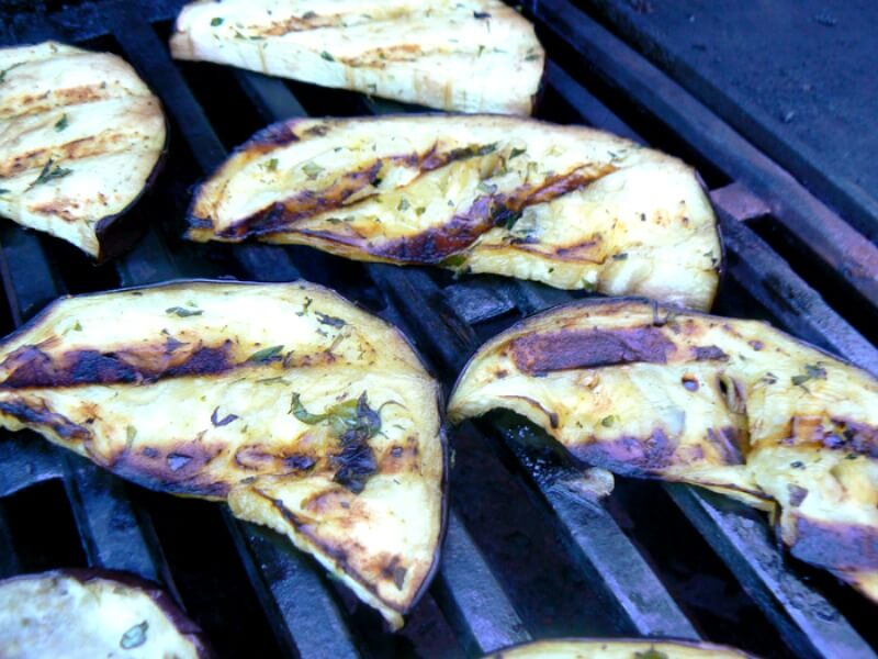 Grilled Eggplant with Fresh Herbs and Olive Oil Recipe