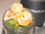 Healthy Green Juice with Mini Oranges Recipe - before blending