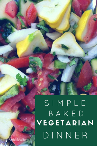 Simple Baked Meatless Vegetarian Dinner recipe