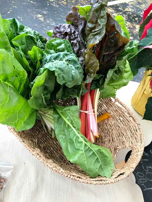 Farmers Markets Finds for December - swiss chard