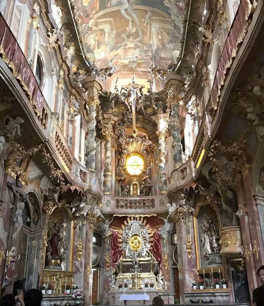A Quick Trip Through Salzburg and Munich - church interior