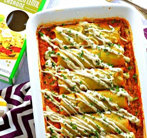 Pumpkin Stuffed Green Lentil Cannelloni Recipe