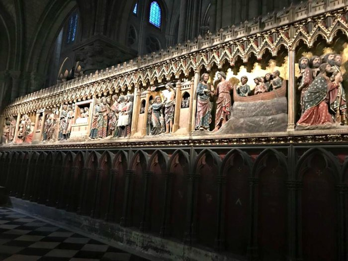 A Visit to Paris Through the Eyes of My Son - inside Notre Dame